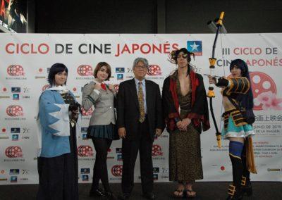 photocall-cosplayers-con-mizukami-masashi-en-evento-III-ciclo-cine-japones-kinepolis